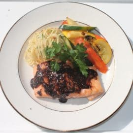 Balsamic Honey Glazed Salmon