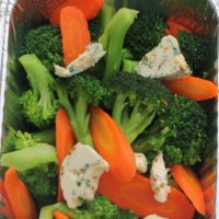 Broccoli & Carrots-Garlic Herb Butter