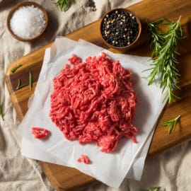 Raw Organic Red Ground Minced Beef